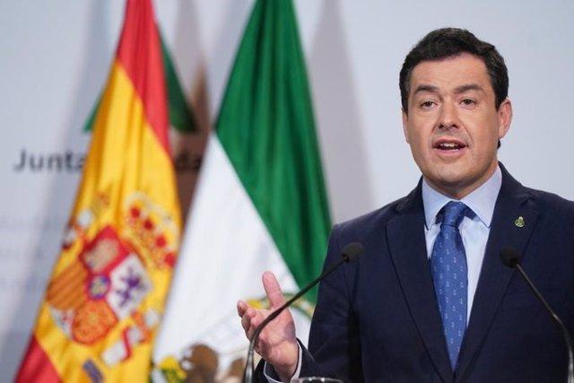 El presidente de la Junta ofrece  declaración pública tras la videoconferencia de presidentes autonómicos con el presidente del Gobierno central por el coronavirus