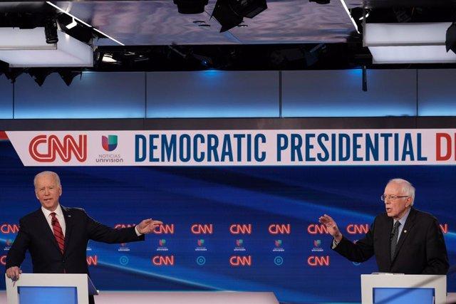 AMP.- EEUU.- Biden y Sanders muestran sus diferencias en la gestión de la crisis