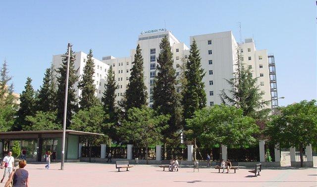 Fachada del Hospital Virgen de las Nieves de Granada