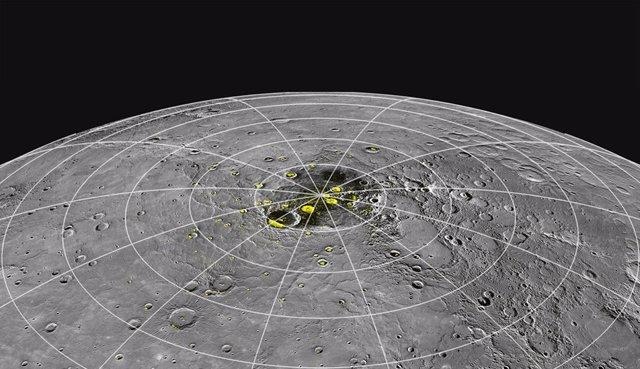 En Mercurio, el calor ayuda a producir hielo