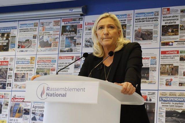 Coronavirus.- Marine Le Pen se pone en cuarentena tras haber estado en contacto