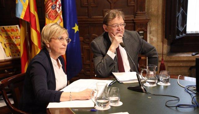 Ana Barceló y Ximo Puig