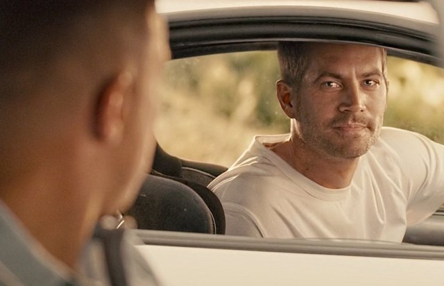 Paul Walker en la escena final de Fast and Furious 7