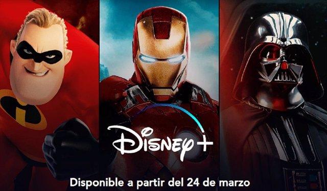 Cartel promocional de Disney+