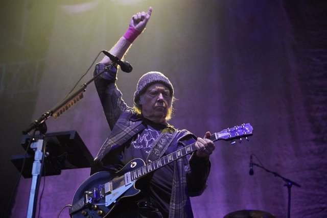 May 25, 2019 - Napa, California, United States: Neil Young performs at the BottleRock Festival at Napa Valley Expo