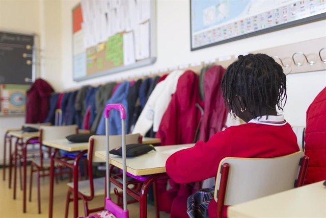 Alumna en un colegio concertado