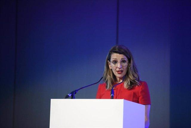 La ministra de Trabajo y Economía Laboral, Yolanda Díaz, el pasado 5 de marzo de 2020.