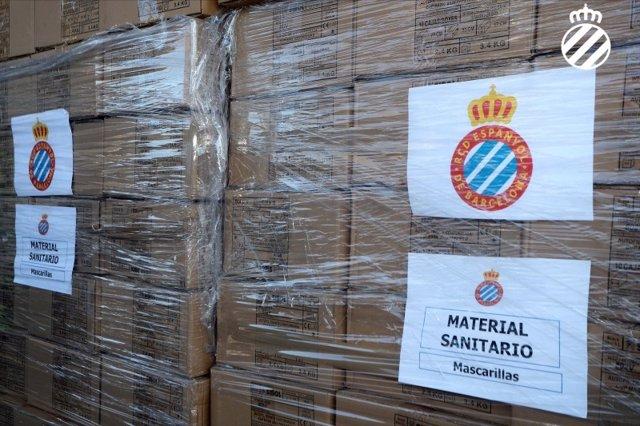 Fútbol.- El Espanyol dona 6.000 mascarillas a centros médicos y hospitalarios