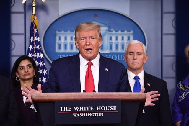"""Coronavirus.- Trump se compara con """"un presidente en tiempos de guerra"""" por la p"""