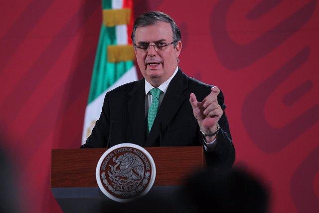 El ministro de Exteriores de México, Marcelo Ebrard