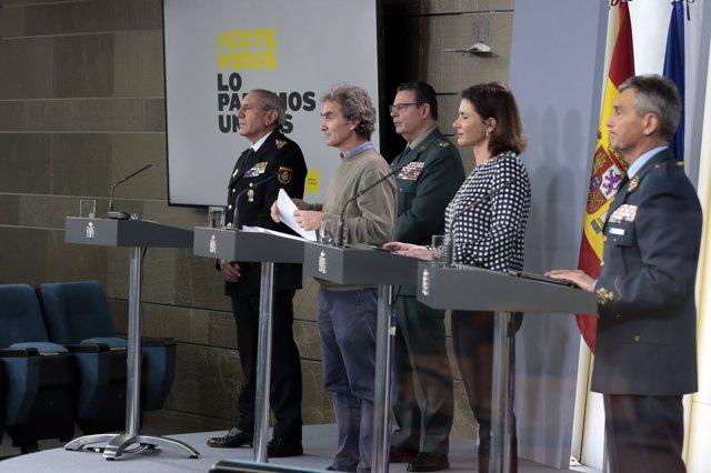 Rueda de prensa en Moncloa tras la reunión del Comité Técnico de Gestión del Coronavirus