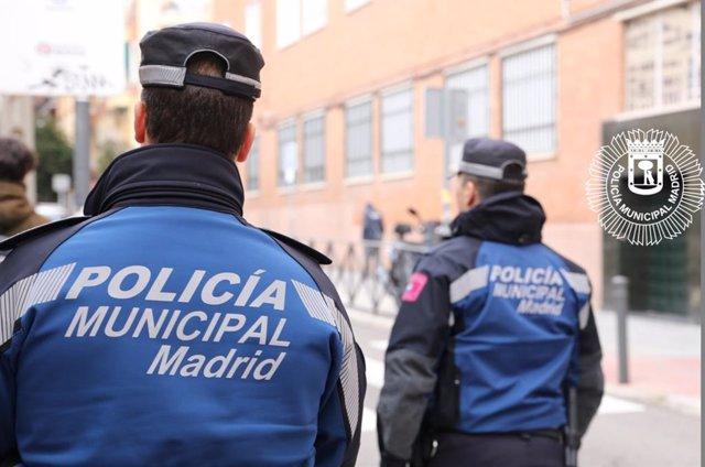 Imagen de recursos de agentes de la Policía Municipal de Madrid.