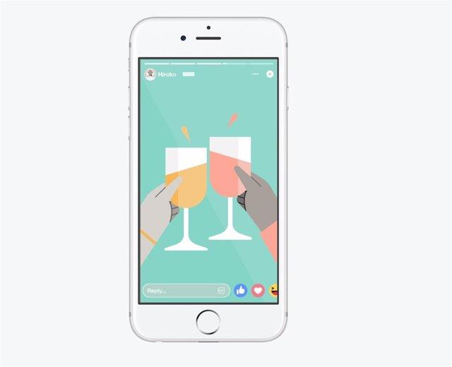 GIF para compartir el 'Estado de ánimo' a través de las 'Stories' de Facebook