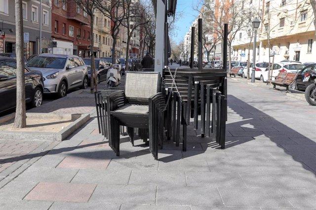 Terrazas clausuras en el centro de Madrid