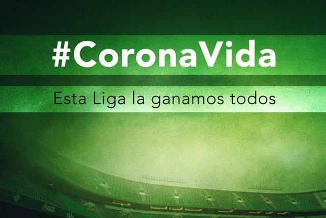 Fútbol.- El Betis quiere recaudar 50.000 euros para combatir el coronavirus en A