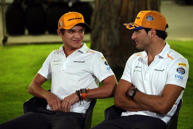 """Fórmula 1.- Norris: """"Tenemos muy buena comprensión Sainz y yo"""""""
