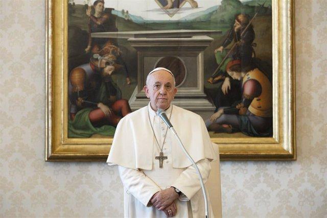 El Papa durante la última audiencia general