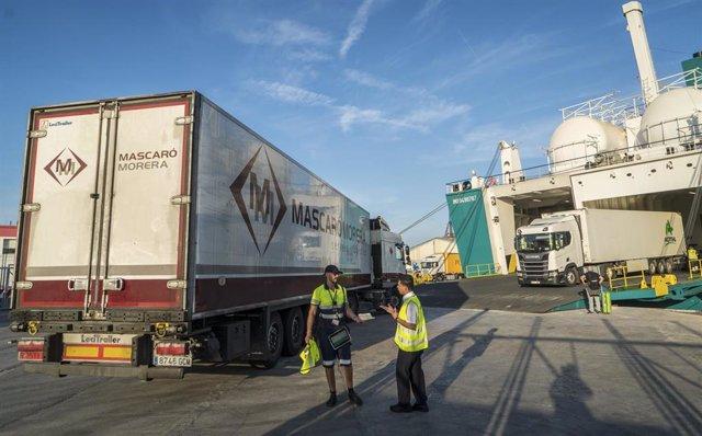Coronavirus.- Baleària operará con cuatro conexiones diarias desde la Península a Baleares solo para mercancías
