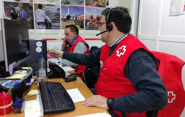 Huelva.- Coronavirus.- Cruz Roja realizará 9.000 llamadas de seguimiento para atender a personas vulnerables
