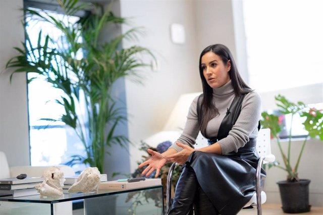 La vicealcaldesa de Madrid, Begoña Villacís, durante una entrevista con Europa Press en su despacho del Ayuntamiento. Archivo.