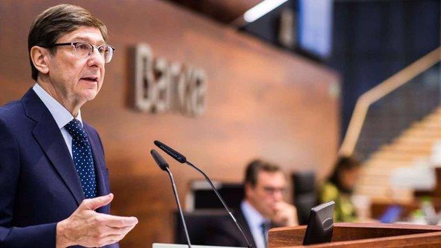 El presidente de Bankia, José Ignacio Goirigolzarri, durante la presentación de resultados anuales de 2019.