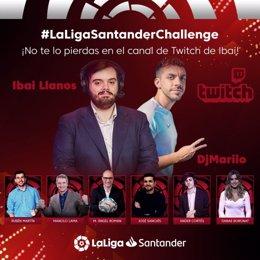 Fútbol.- LaLiga y Banco Santander se unen al reto virtual creado por Ibai Llanos