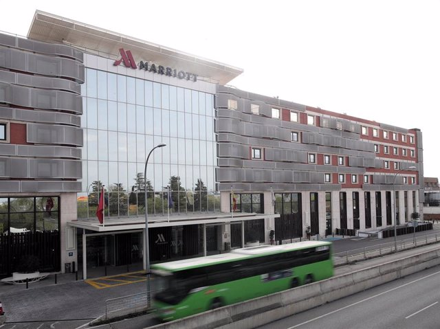 Fachada del Hotel Marriott Auditorium en Madrid