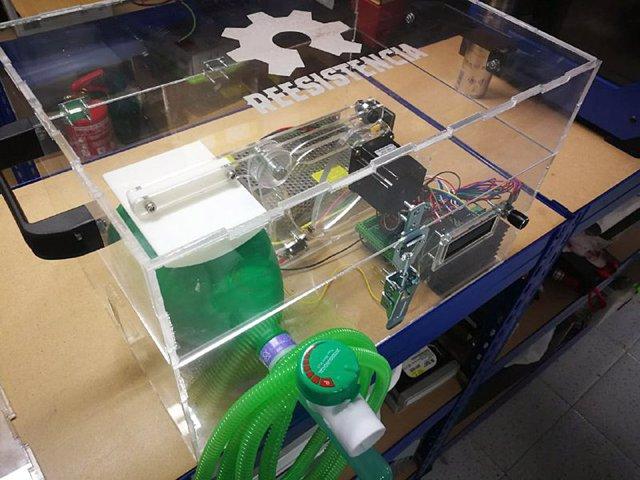 Nota Prensa, Fotos Y Audio Consejero Ciencia Prototipo Respirador Automático Covid 19