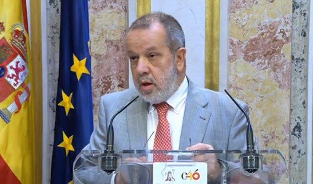 El Defensor del Pueblo, Francisco Fernández Marugán, en una foto de archivo correpondiente a 2019