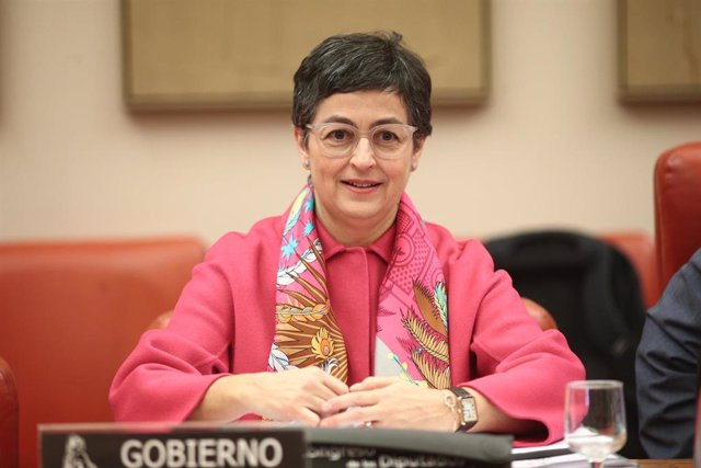 La ministra de Asuntos Exteriores, Unión Europea y Cooperación, Arancha González Laya, en la reunión de la Comisión de Asuntos Exteriores en el Congreso, para informar sobre los objetivos de su ministerio, en Madrid (España), a 20 de febrero de 2020.