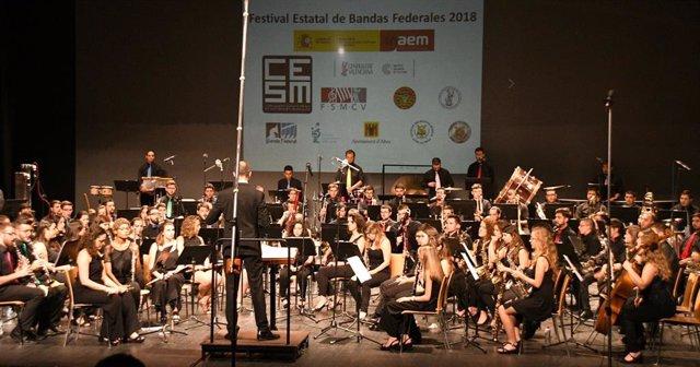 Músics en el Festival Estatal de Bandes Federals, organitzado per la CESM.