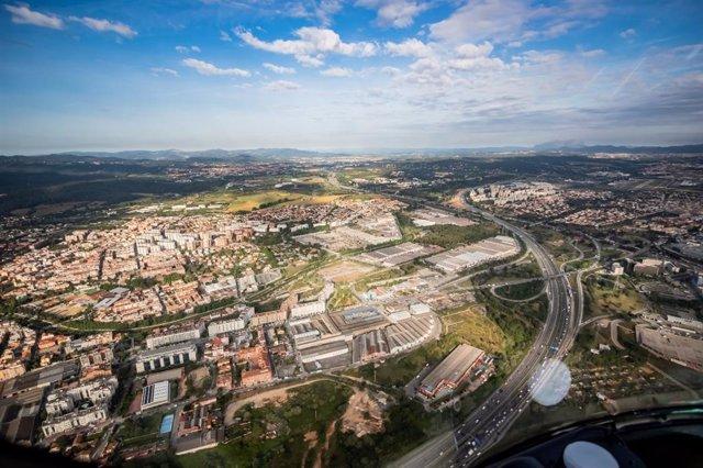 Vista d'una dels principals accessos de Barcelona el 14 de març de 2020, amb menys trànsit durant la pandèmia de coronavirus.