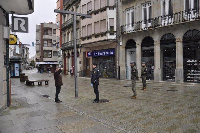 Patrullas de la Policía Nacional y la Brilat se despliegan en distintas ciudades gallegas