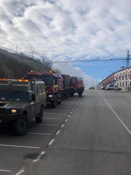 La UME desinfecta Alcalá del Valle (Cádiz) tras dar positivo 20 trabajadores de una residencia de mayores
