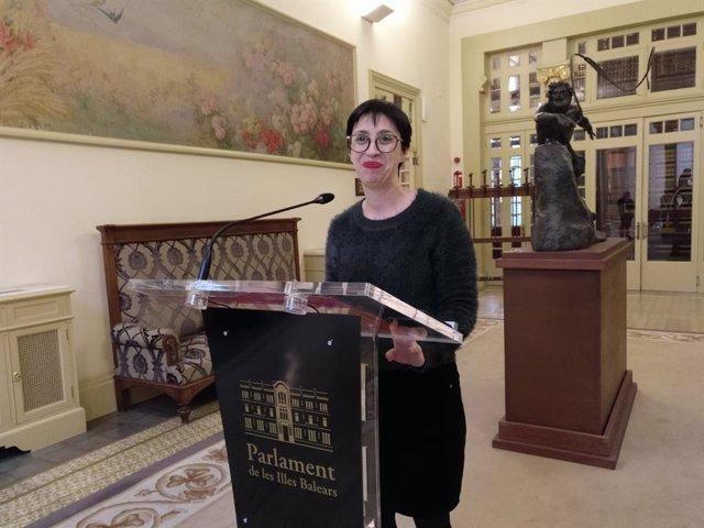 La portavoz del PSIB, Sílvia Cano.