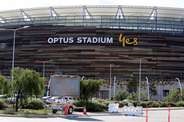 La AFL anuncia la suspensión de la temporada de fútbol australiano en el Optus Stadium de Perth