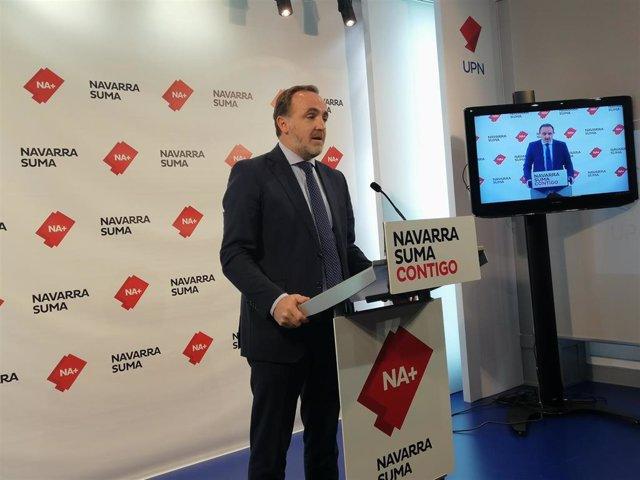 El portavoz de Navarra Suma en el Parlamento foral, Javier Esparza