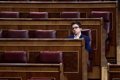 Errejón pide a Sánchez endurecer el confinamiento y parar toda actividad laboral que no sea imprescindible