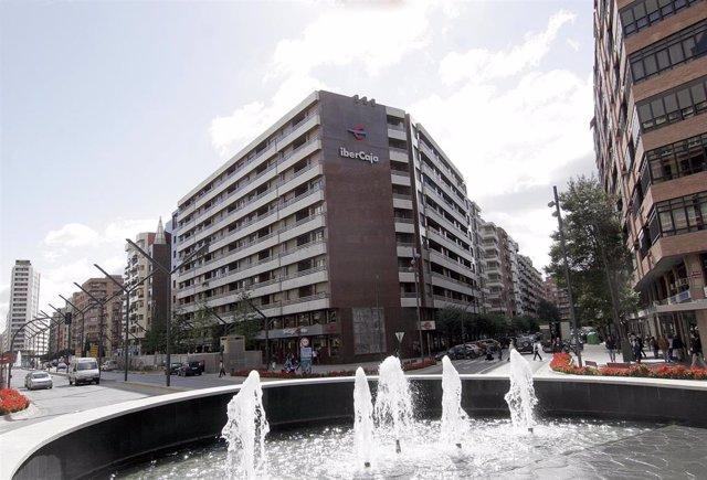 Edificio de Ibercaja en Logroño.