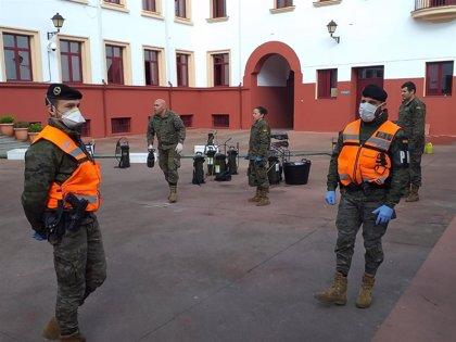 La Brigada Extremadura XI despliega 116 militares en Almaraz, Valencia de Alcántara, Malpartida de Cáceres y Badajoz