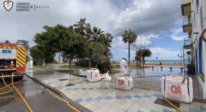 Diputación de Málaga continúa con la desinfección en municipios, residencias y centros sanitarios de toda la provincia
