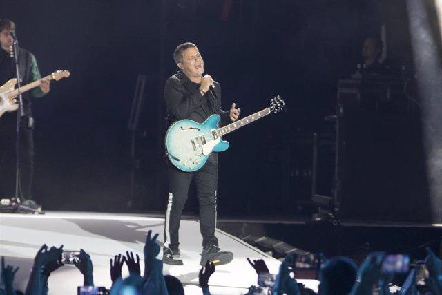 Alejandro Sanz en su concierto en el Wanda Metropolitano