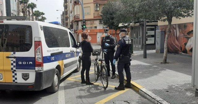 Policía en Alicante
