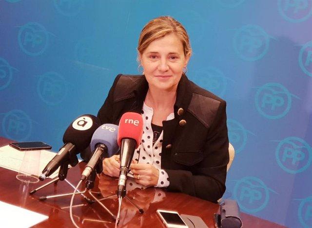 La vicesecretaria general del PPCV, Elena Bastidas, en rueda de prensa