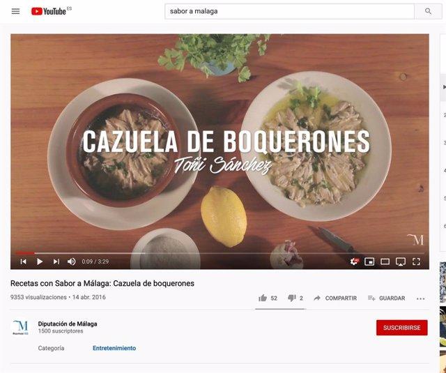 Málaga.- Coronavirus.- Sabor a Málaga recupera un vídeo recetario con platos tra