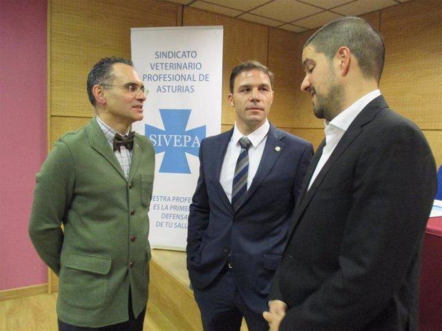 Representantes del Sindicato Profesional de Veterinarios de Asturias
