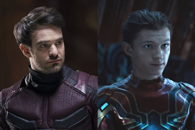 Daredevil en la serie de Netflix y Spider-Man en Vengadores: Infinity War