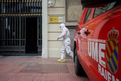 El IV Batallón de la UME desinfecta instalaciones en Zaragoza, La Rioja y Barcelona