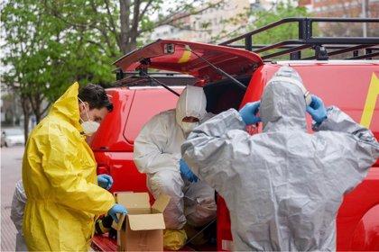 La UME multiplica la capacidad de desinfección de uno de sus vehículos con un cañón productor de nieve