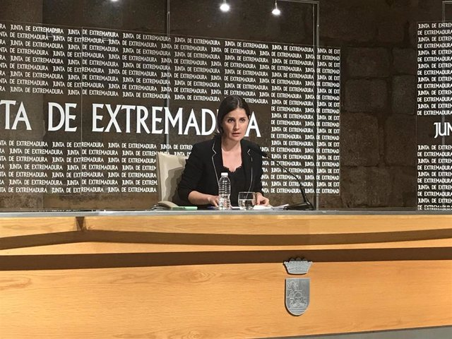 Imagen de archivo de la consejera de Igualdad y portavoz de la Junta, Isabel Gil Rosiña